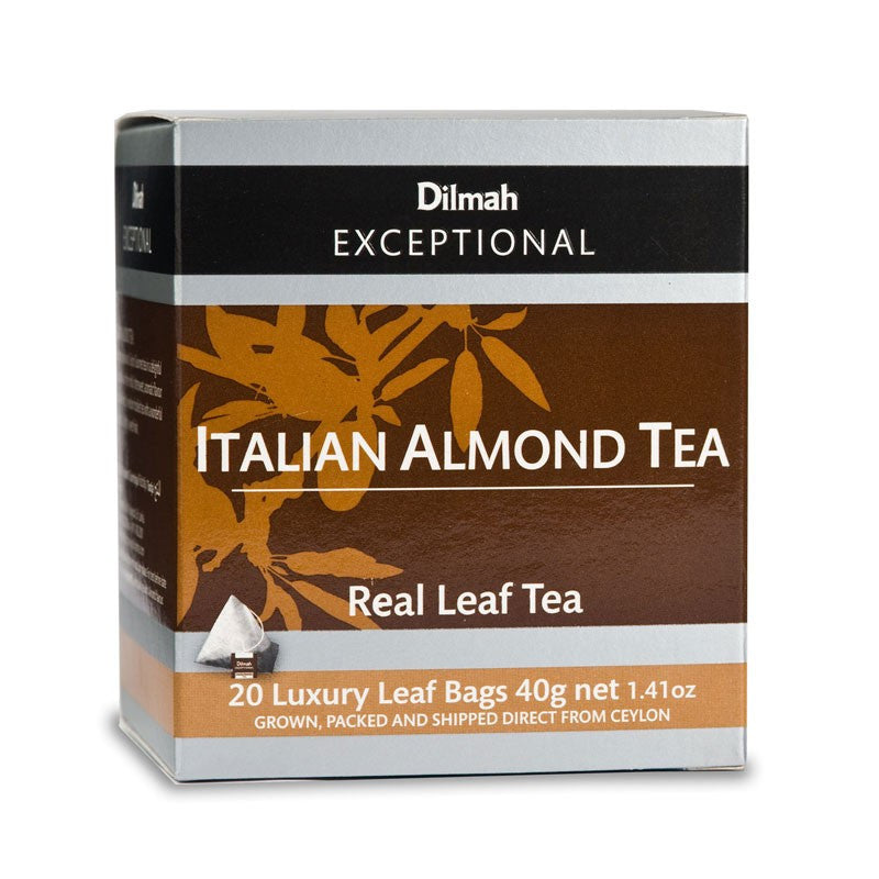 Dilmah Exceptional Italian Almond Tea, 20 Count Tea Bags