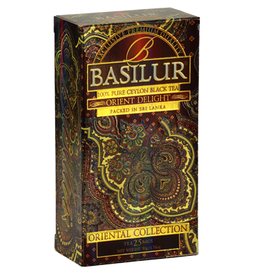 Basilur Oriental Delight Tea, 25 Count Tea Bags