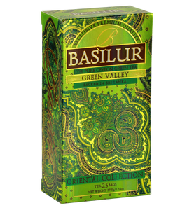 Basilur Oriental Green Valley, 25 Count Tea Bags