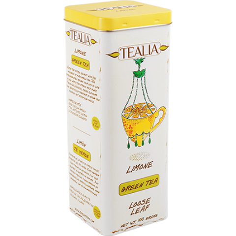 Tealia Limone Green Tea, Loose Tea 100g
