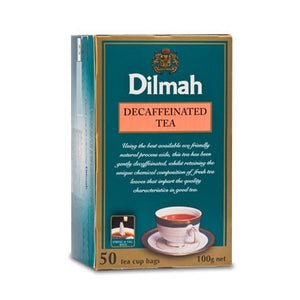 Dilmah Premium 100% Pure Decaffeinated Ceylon Tea, 50 Count Tea Bags