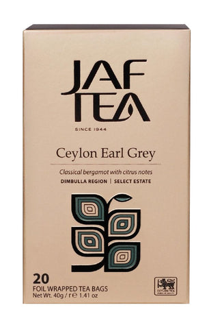 Jaf Ceylon Earl Grey Tea, 20 Count Tea Bags