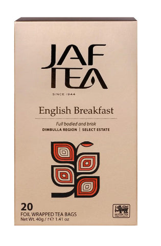 Jaf Ceylon English Breakfast Tea, 20 Count Tea Bags