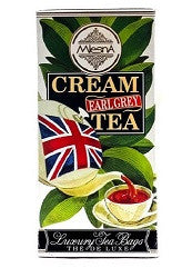 Mlesna Cream Earl Grey Flavoured Ceylon Tea, 30 Count Tea Bags