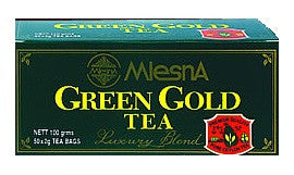 Mlesna Green Gold Tea, 50 Count Tea Bags