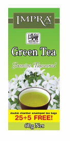 Impra Jasmine Green Tea, 25 Count Tea Bags