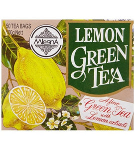 Mlesna Lemon Green Tea, 50 Count Tea Bags