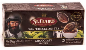 St Clair's Chocolate Flavoured Ceylon Tea, 20 Count Tea Bags
