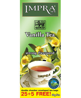Impra Vanilla Flavoured Black Tea, 25 Count Tea Bags