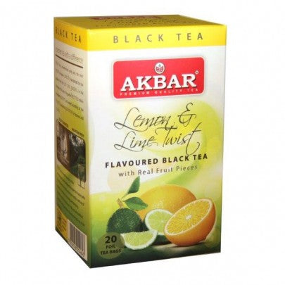 Akbar Lemon And Lime Twist Tea, 20 Count Tea Bags