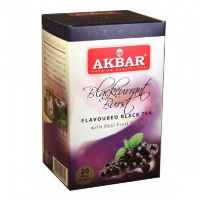 Akbar Blackcurrant Burst Tea, 20 Count Tea Bags