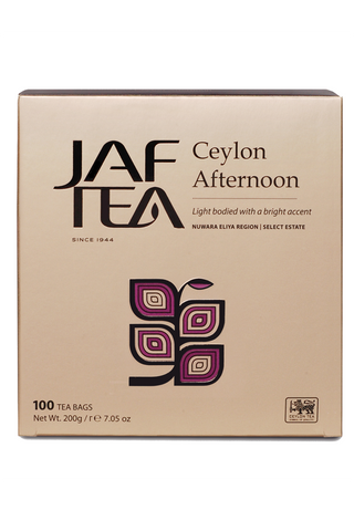 Jaf Ceylon Afternoon Tea, 100 Count Tea Bags