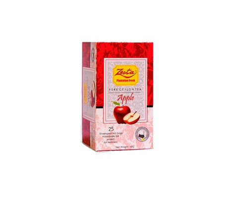 Zesta Apple Flavoured Ceylon Black Tea, 25 Count Tea Bags