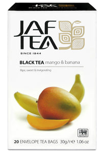 Jaf Mango And Banana Ceylon Black Tea, 20 Count Tea Bags