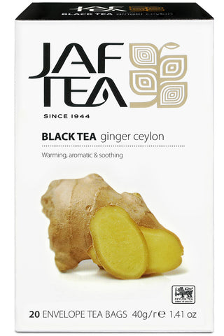 Jaf Ginger Ceylon Black Tea, 20 Count Tea Bags