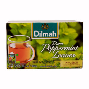 Dilmah Pure Peppermint Leaves, 20 Count Tea Bags