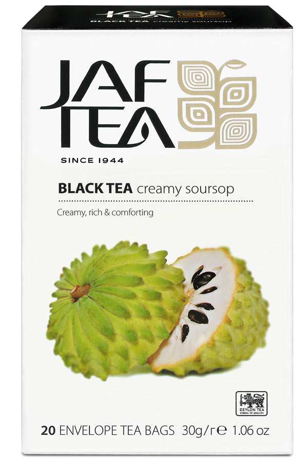 Jaf Creamy Soursop Ceylon Black Tea, 20 Count Tea Bags