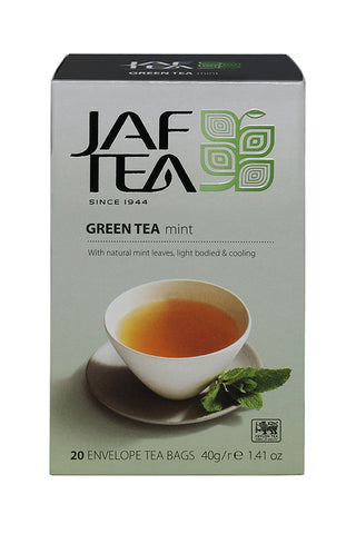 Jaf Mint Flavoured Ceylon Green Tea, 20 Count Tea Bags