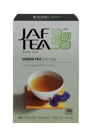 Jaf Earl Grey Flavoured Ceylon Green Tea, 20 Count Tea Bags