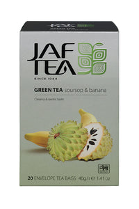 Jaf Soursop And Banana Flavoured Ceylon Green Tea, 20 Count Tea Bags