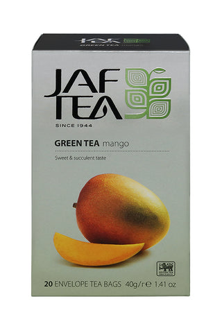 Jaf Mango Flavoured Ceylon Green Tea, 20 Count Tea Bags