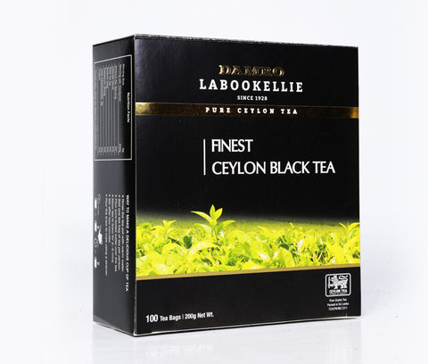 Damro Labookellie Pure Ceylon Black Tea, 100 Count Tea Bags