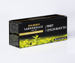 Damro Labookellie Pure Ceylon Black Tea, 25 Count Tea Bags