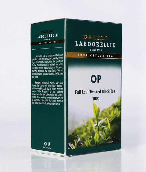 Damro Labookellie OP Pure Ceylon Black Tea, Loose Tea 100g