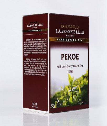 Damro Labookellie PEKOE Pure Ceylon Black Tea, Loose Tea 100g