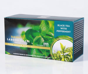 Damro Labookellie Peppermint Flavoured Pure Ceylon Black Tea, 25 Count Tea Bags