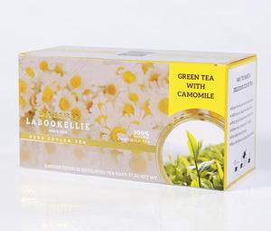 Damro Melfort Green Tea With Camomile, 25 Count Tea Bags