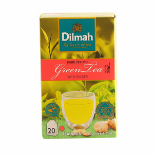 Dilmah Green Tea With Ginger, 20 Count Tea Bags