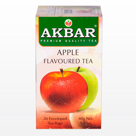 Akbar Apple Flavoured Ceylon Black Tea, 20 Count Tea Bags