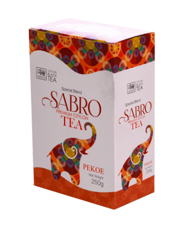 Sabro PEKOE Pure Ceylon Black Tea, Loose Tea 250g