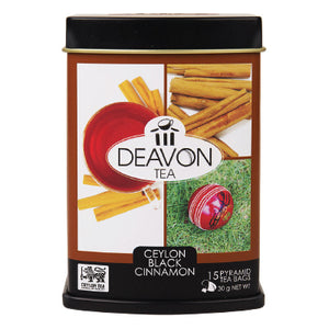 Deavon Cinnamon Flavoured Ceylon Black Tea, 15 Count Tea Bags
