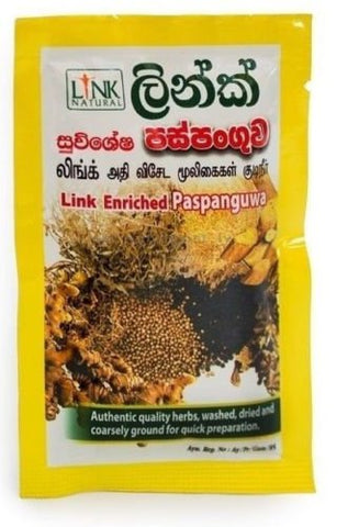 Link Natural Enriched Paspanguwa for Sneezing Headache Cough Fever Cold & Aches 25g