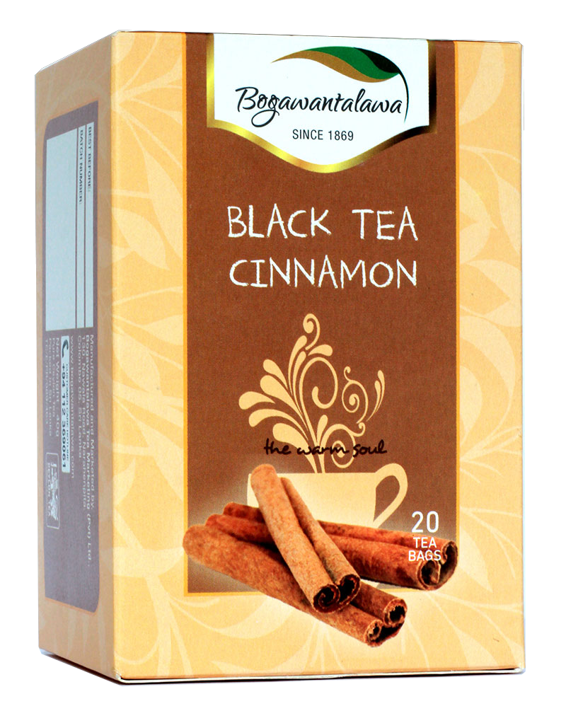 Bogawantalawa Cinnamon Flavoured Ceylon Black Tea, 20 Count Tea Bags