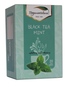 Bogawantalawa Mint Flavoured Ceylon Black tea, 20 Count Tea Bags