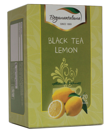 Bogawantalawa Lemon Flavoured Ceylon Black Tea, 20 Count Tea Bags