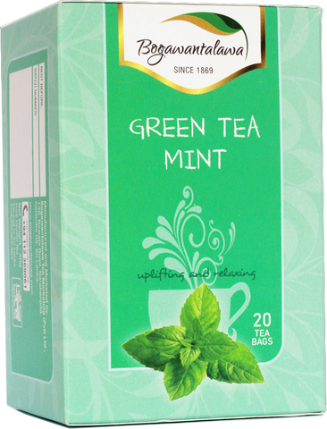 Bogawantalawa Mint Flavoured Ceylon Green Tea, 20 Count Tea Bags