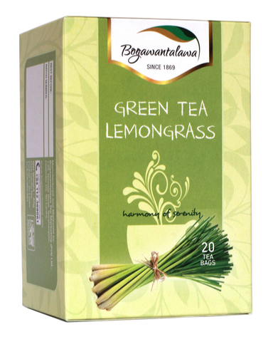 Bogawantalawa Lemongrass Flavoured Green Tea, 20 Count Tea Bags