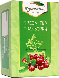 Bogawantalawa Cranberry Flavoured Green Tea, 20 Count Tea Bags