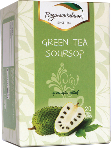 Bogawantalawa Soursop Flavoured Green Tea, 20 Count Tea Bags