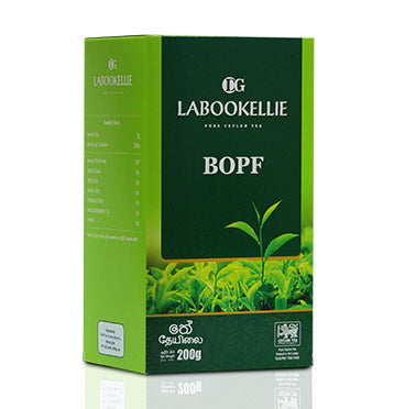 DG Labookellie BOPF Pure Ceylon Black Tea, Loose Tea 200g