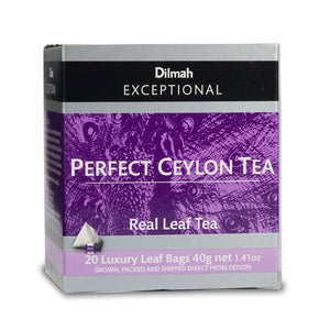 Dilmah Exceptional Perfect Ceylon Tea, 20 Count Tea Bags
