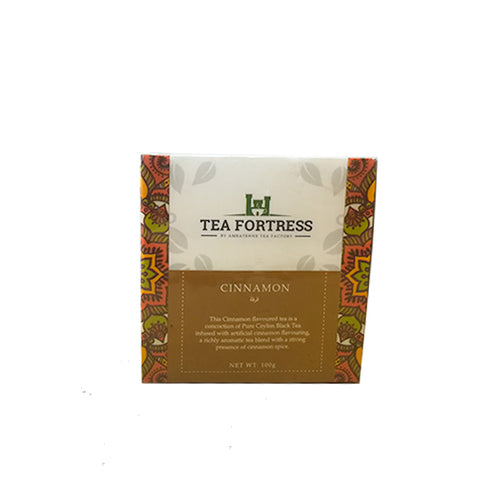 Tea Fortress Cinnamon Flavoured Pure Ceylon Black Tea, Loose Tea 100g