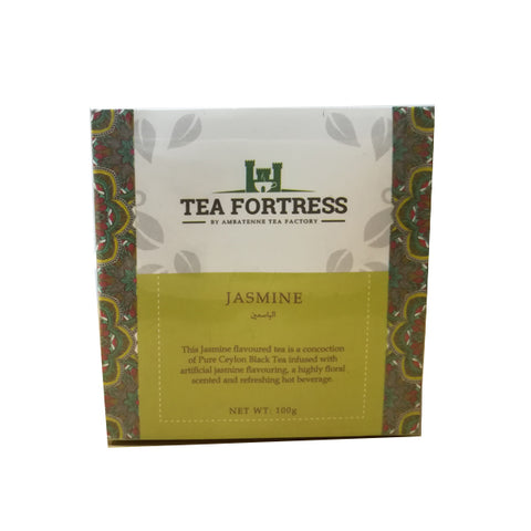 Tea Fortress Jasmine Flavoured Pure Ceylon Black Tea, Loose Tea 100g