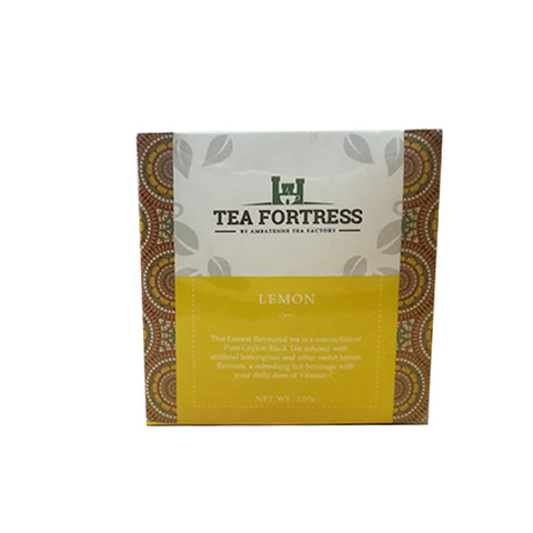 Tea Fortress Lemon Flavoured Pure Ceylon Black Tea, Loose Tea 100g