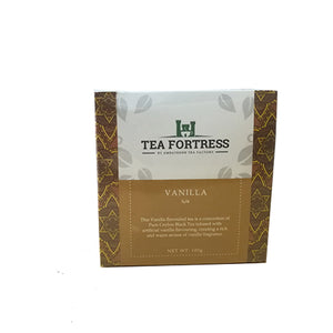 Tea Fortress Vanilla Flavoured Pure Ceylon Black Tea, Loose Tea 100g