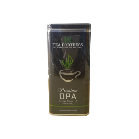 Tea Fortress Premium OPA Tin Caddy, Loose Tea 100g